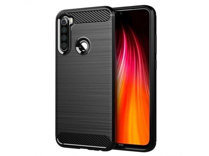 eng pl Carbon Case Flexible Cover TPU Case for Xiaomi Redmi Note 8T black 55987 1 (1)