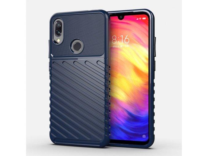 eng pl Thunder Case Flexible Tough Rugged Cover TPU Case for Xiaomi Redmi Note 7 blue 56383 1