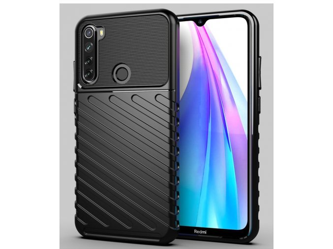 eng pl Thunder Case Flexible Tough Rugged Cover TPU Case for Xiaomi Redmi Note 8T black 56375 1