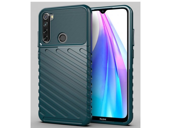 eng pl Thunder Case Flexible Tough Rugged Cover TPU Case for Xiaomi Redmi Note 8T green 56377 1