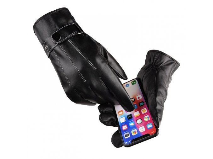 eng pl Mens winter gloves for a touchscreen smartphone black 63014 2