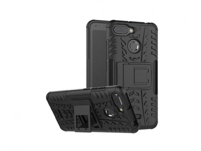 Outdoor odolný obal se stojánkem na Samsung Galaxy J3 2016 - černý