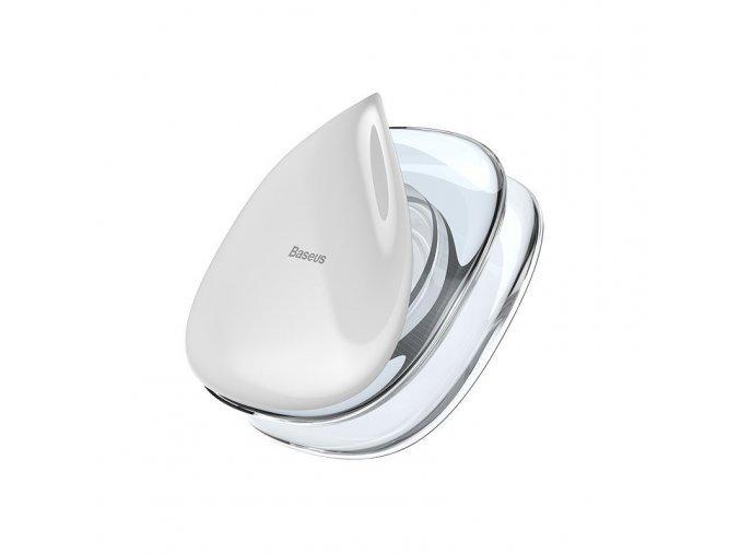 Baseus přísavný držák a organizér na sluchátka - bílý