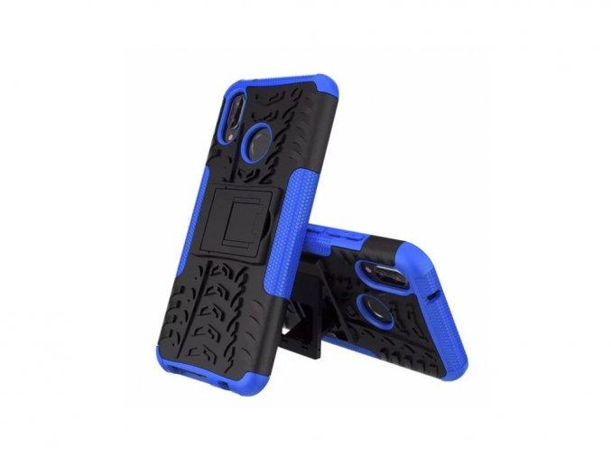 Outdoor odolný obal se stojánkem na Huawei P10 Lite - modrý