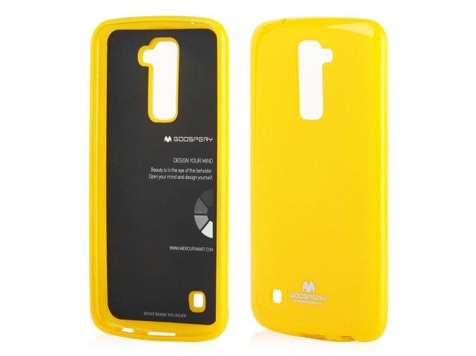 perleťový kryt na LG K 10 žlutý