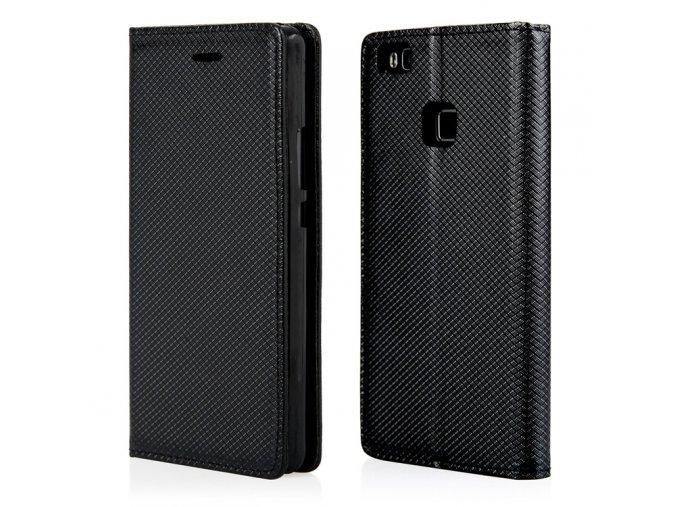 Magnetické flipové pouzdro pro Huawei P9 lite černé