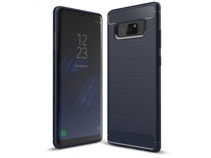 Ohebný carbon kryt na Samsung Galaxy Note 8 - modrý
