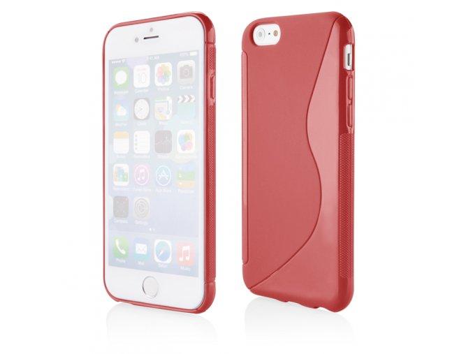 Silikonový S Case kryt na Iphone 6 plus červený 1