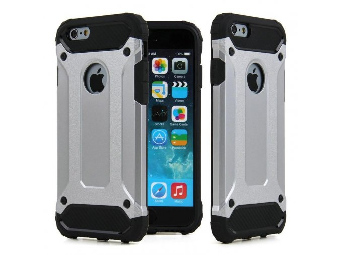 Armor kryt na iPhone 6,6S stříbrný 2