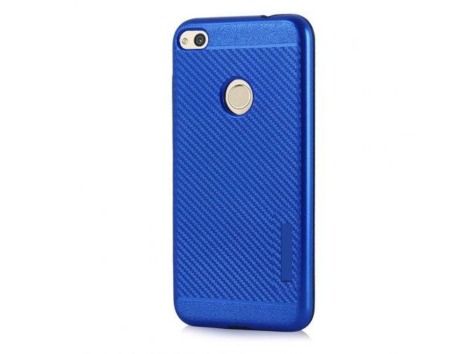 Odolný karbonový kryt na Huawei P8 Lite 2017, P9 Lite 2017 modrý
