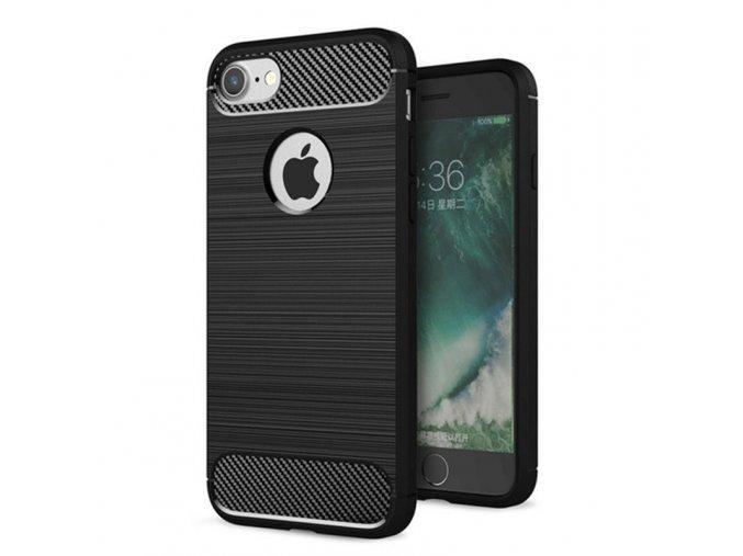 Ohebný carbon kryt na iPhone 7, iPhone 8 černý 1
