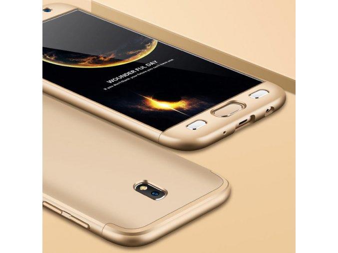 360 oboustranný kryt na Samsung Galaxy J5 2017 zlatý 1