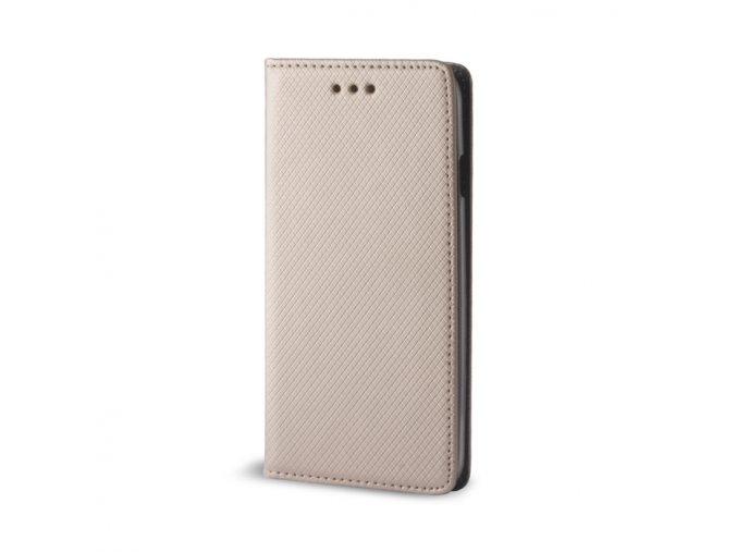 Magnetické flipové pouzdro na Huawei Y7 zlaté 1