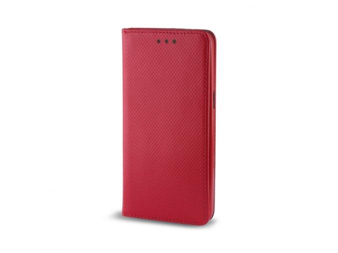 Magnetické flipové pouzdro na Huawei Y7 červené