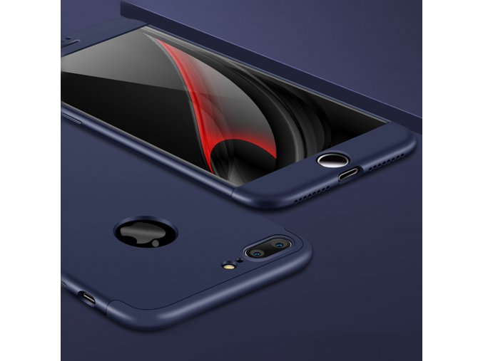 360 oboustranný kryt na iPhone 7 Plus, iPhone 8 Plus modrý 8