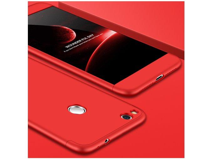 360 oboustranný kryt na Huawei P9 Lite 2017 červený