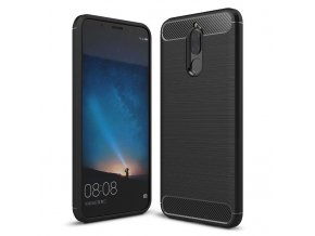 Carbon Case Flexible Cover TPU Case for Huawei Mate 10 Lite black