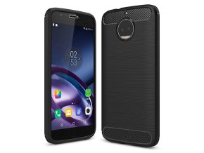 Carbon Case Flexible Cover TPU Case for Motorola Moto G5S black