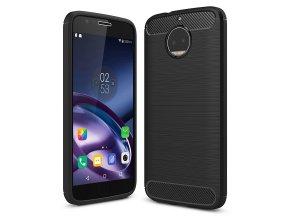 Carbon Case Flexible Cover TPU Case for Motorola Moto G5S black