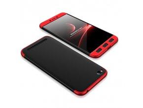 360 oboustranný kryt na Xiaomi Redmi 5A červenočerný 1