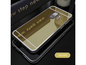 zrcadlový silikonový obal na Samsung S9 zlatý kopie
