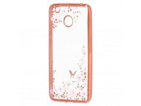 ROzkvetlý kryt na Xiaomi Redmi 4x růžový