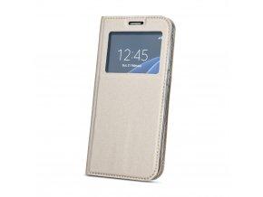 Flipové pouzdro s okénkem na Samsung S9 zlaté