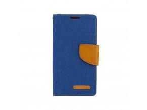 Canvas peněženkové pouzdro na Huawei P8 lite modré