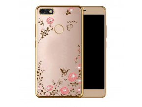 Květinový kryt na Huawei P9 lite mini zlatý