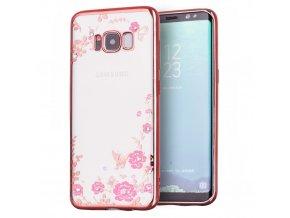 Květinový kryt na Samsung Galaxy S8 Plus růžový