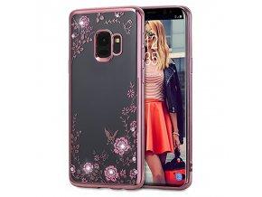 Květinový kryt na Samsung Galaxy S9 růžový