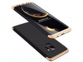 360 oboustranný kryt na Samsung Galaxy S9 zlatočerný 1