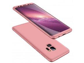 360 oboustranný kryt na Samsung Galaxy S9 růžový 1
