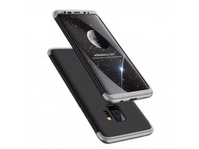 360 oboustranný kryt na Samsung Galaxy S9 Plus stříbrnočerný 1