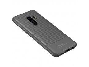 iPaky Carbon Fiber kryt na Samsung Galaxy S9 Plus šedý