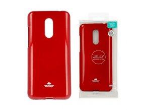 Perleťově zbarvený jelly case mercury na Xiaomi Redmi 5 Plus červený