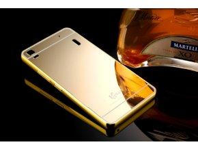 Zrcadlový kryt na Lenovo A7000 (K3 Note) - Zlatý  + Doprava zdarma
