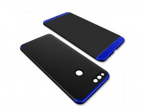 360 oboustranný kryt na Honor 7X - modročerný
