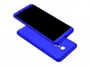 360 oboustranný kryt na Xiaomi Redmi 5 Plus - modrý