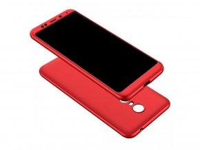 360 oboustranný kryt na Xiaomi Redmi 5 Plus - červený