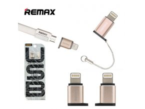 adapter micro usb lightning remax gold