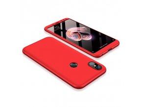360 oboustranný kryt na Xiaomi redi Note 5 červený