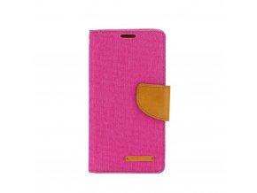 canvas pouzdro na Huawei P20 Lite růžové