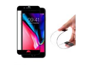 celoplošné nano flexi sklo na iPhone 7 8 černé