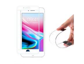 celoplošné nano flexi sklo na iPhone 7 8 bílé