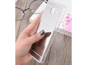 Silikonový zrcadlový kryt na Samsung Galaxy J7 2016 stříbrný