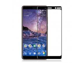 celoplošné 3D full glue sklo na Nokia 7 Plus černé