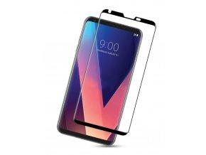 3D Tvrzené sklo na LG V30 černé 3D zahnutí