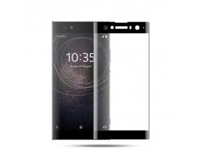 3D Tvrzené sklo na Sony Xperia XA2 černé na bilem
