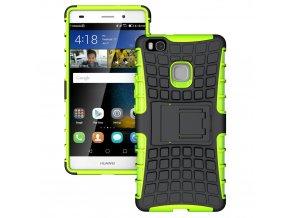Outdoor kryt na Huawei P9 lite zelený černý titulka
